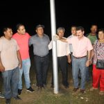 Inauguran sistema de iluminación led en la cancha de la Junta 18 de Agosto