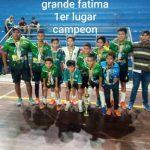 Escuela de Fútbol de Salón Fátima suma nuevo título