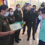 Reconocen esfuerzos de la Policía para controlar el coronavirus en Beni